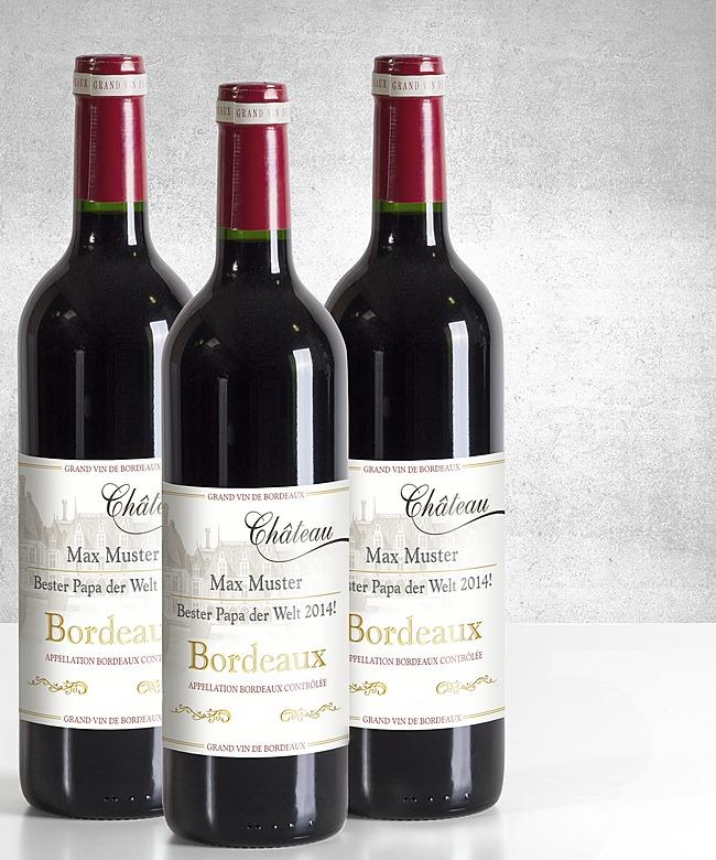 Personalisierter Wein
