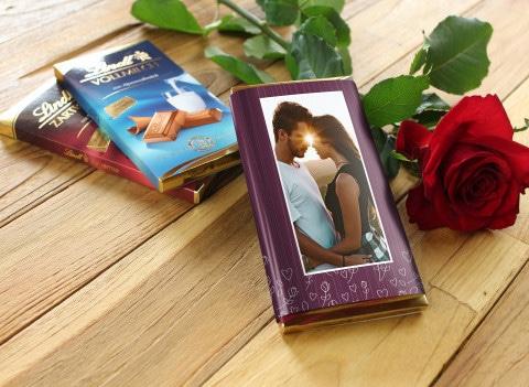 Lindt-Schokolade mit Foto