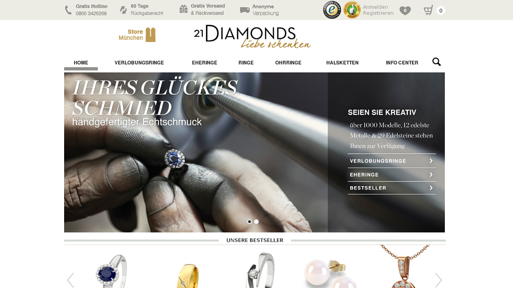 21Diamonds Online-Shop