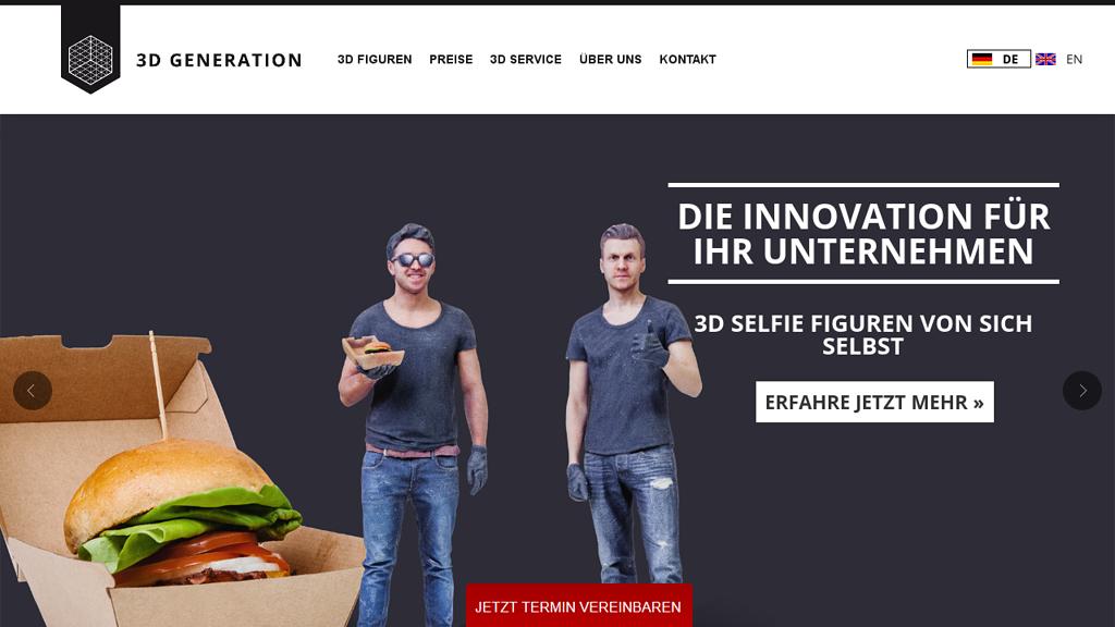 3D Generation Online-Shop