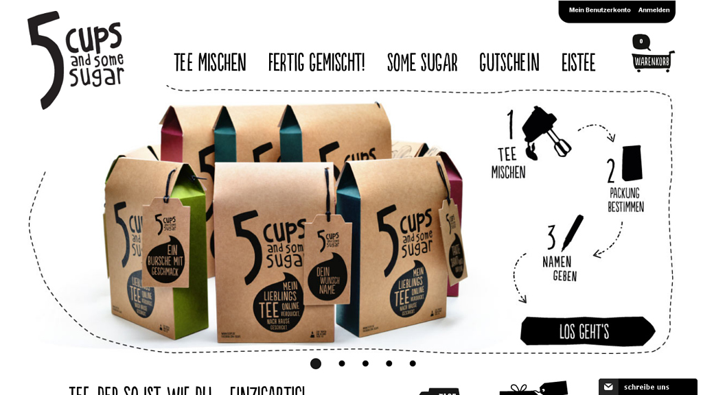 5 CUPS and some sugar Online-Shop