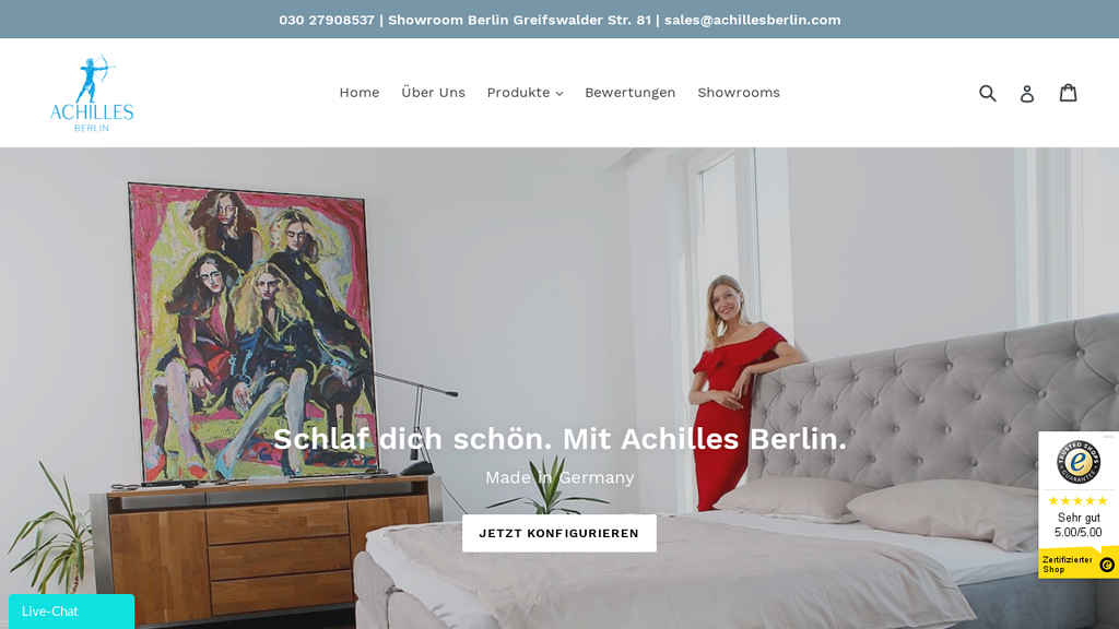 Achilles Berlin Online-Shop