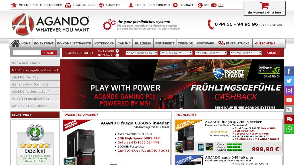 AGANDO Online-Shop