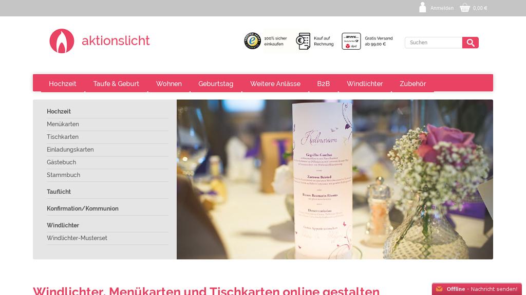 AktionsLicht Online-Shop