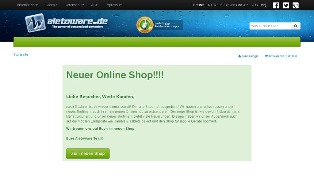 aletoware Online-Shop