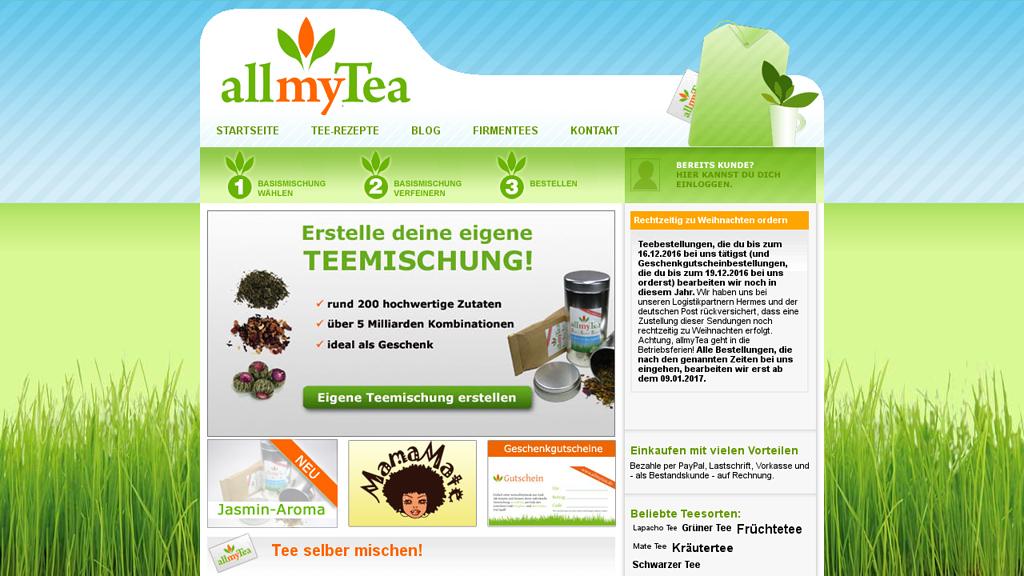 allmyTea Online-Shop