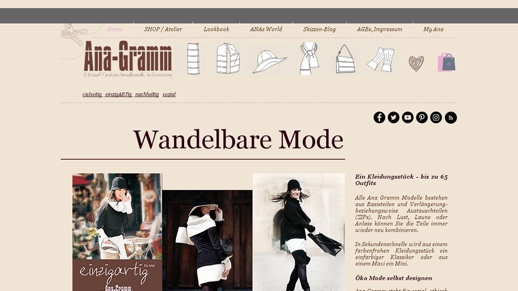 Ana Gramm Online-Shop