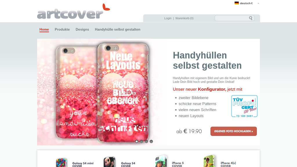 artcover Online-Shop