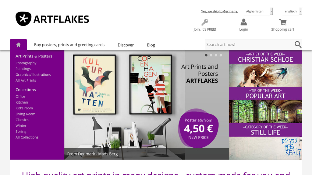Artflakes Online-Shop