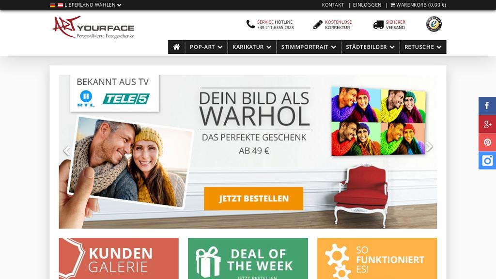 ArtYourFace Online-Shop