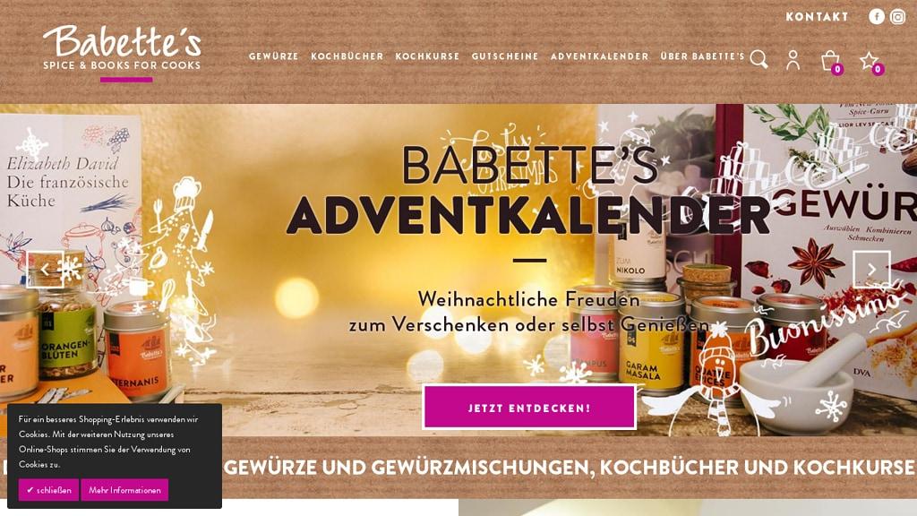Babette's Online-Shop