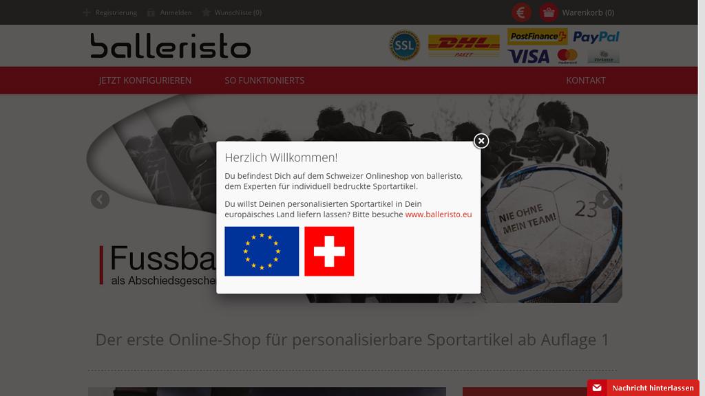 balleristo Online-Shop
