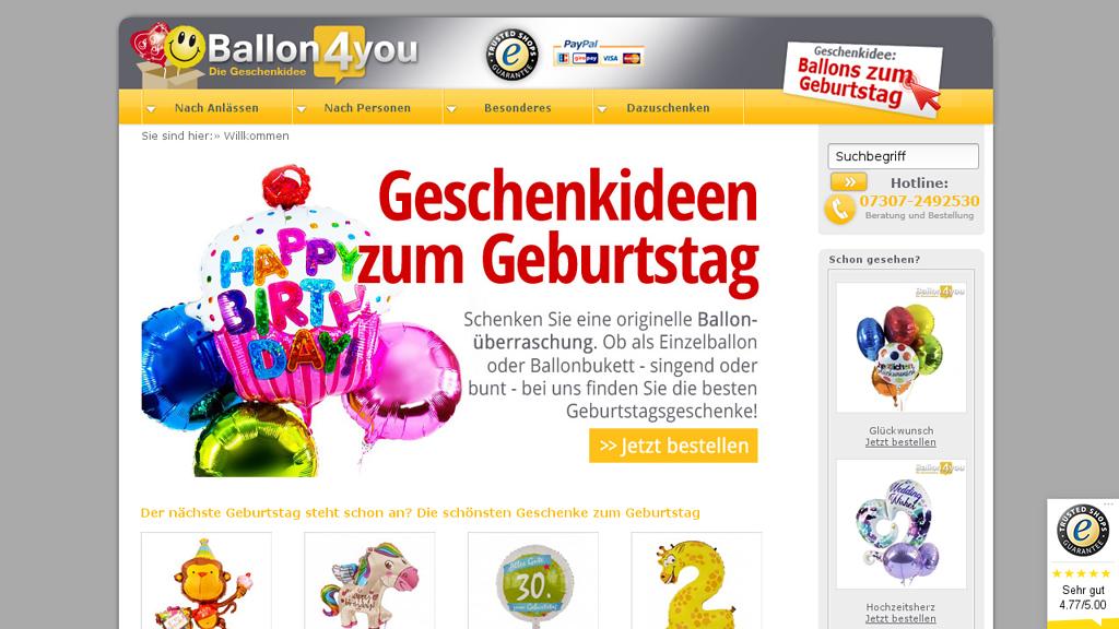 Ballon4You Online-Shop