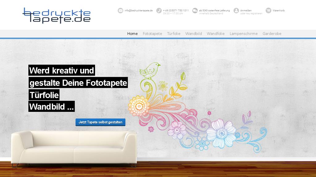 BedruckteTapete.de Online-Shop