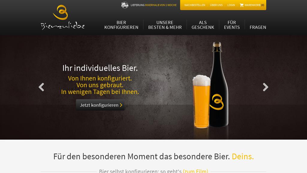 Bierzuliebe Online-Shop