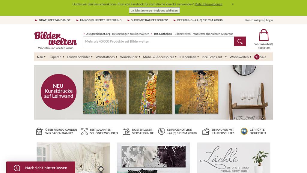 bilder-welten Online-Shop