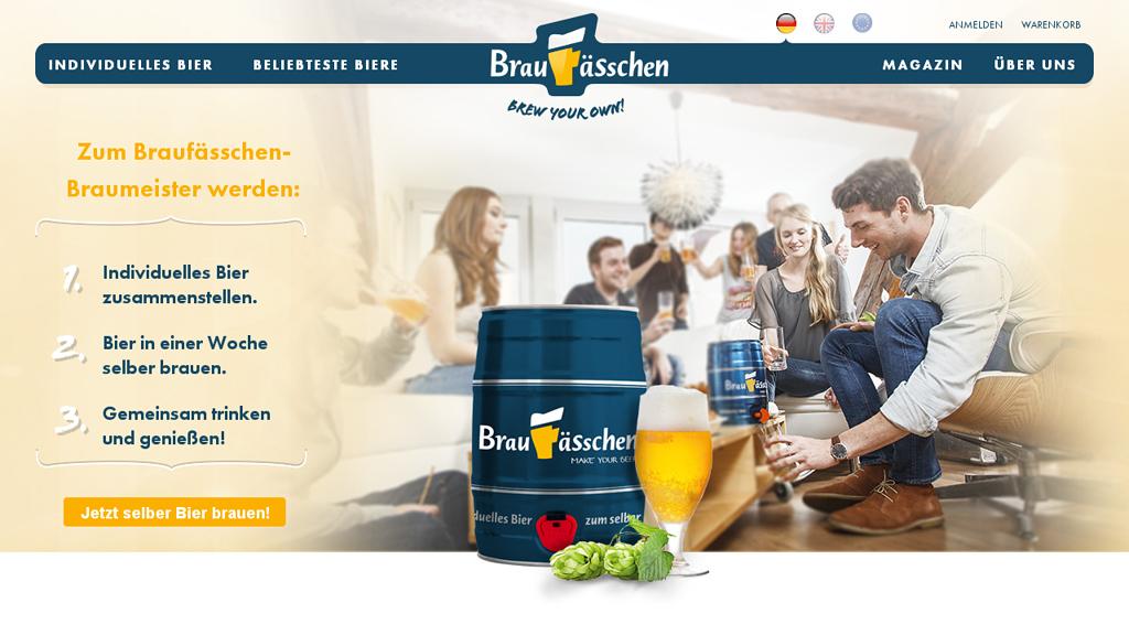 Braufässchen Online-Shop