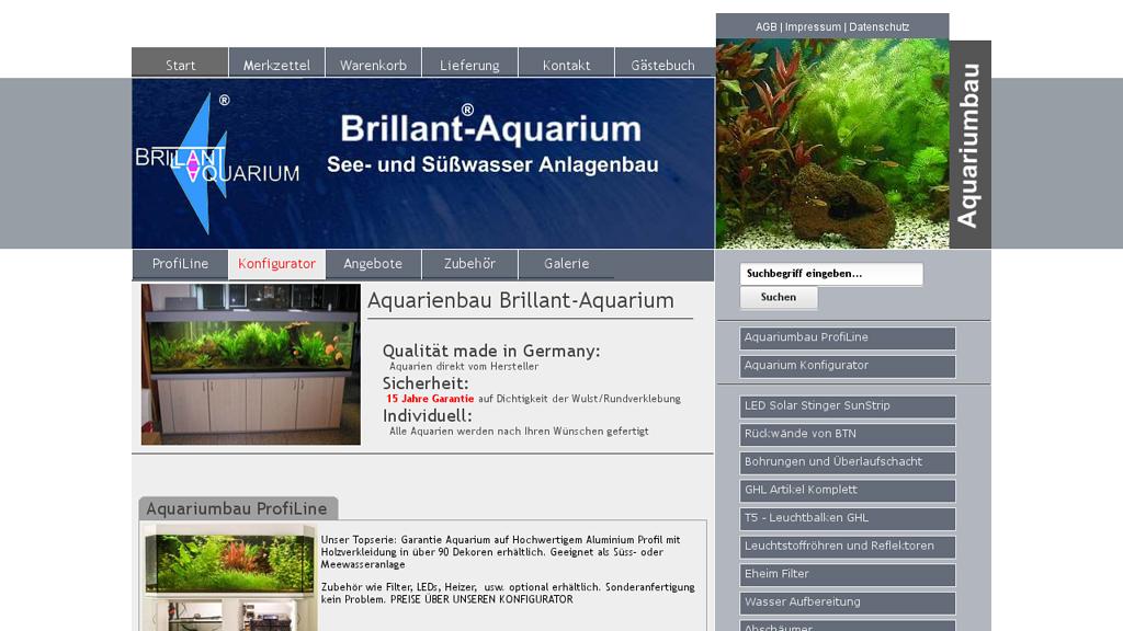 Brillant Aqarium Online-Shop