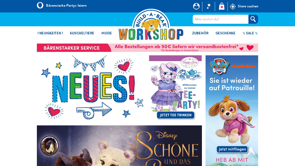 Build-A-Bear Online-Shop