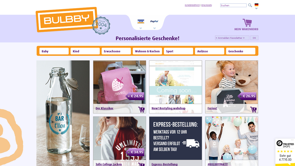 BULBBY Online-Shop