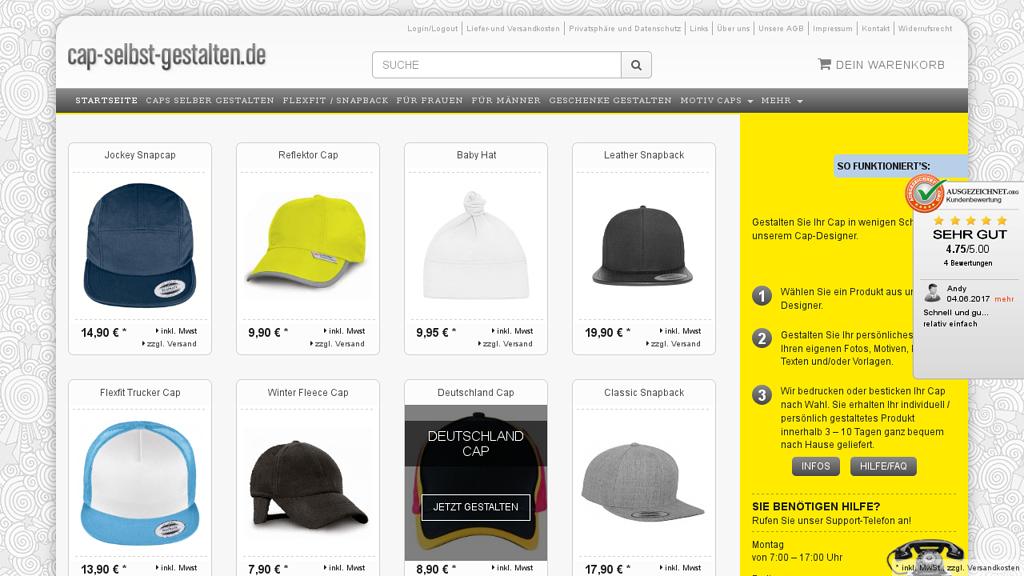 cap-selbst-gestalten.de Online-Shop