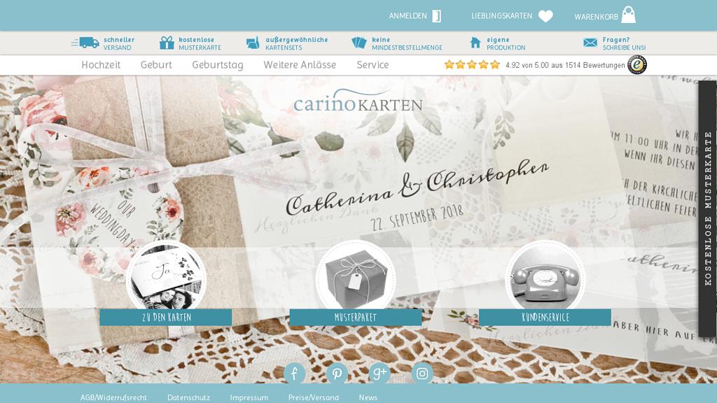 Carinokarten Online-Shop