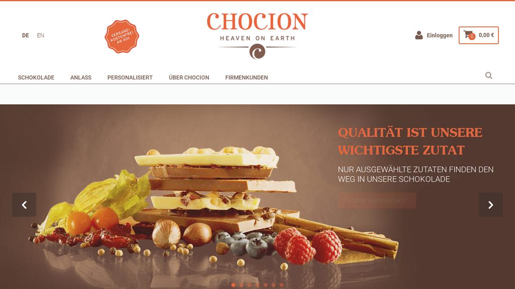 CHOCION Online-Shop