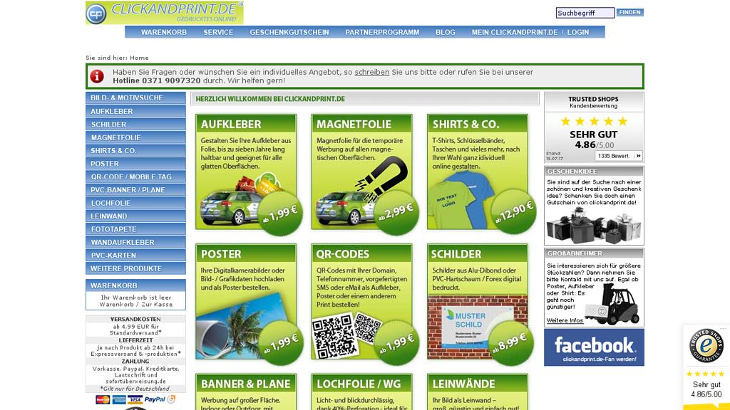 clickandprint Online-Shop