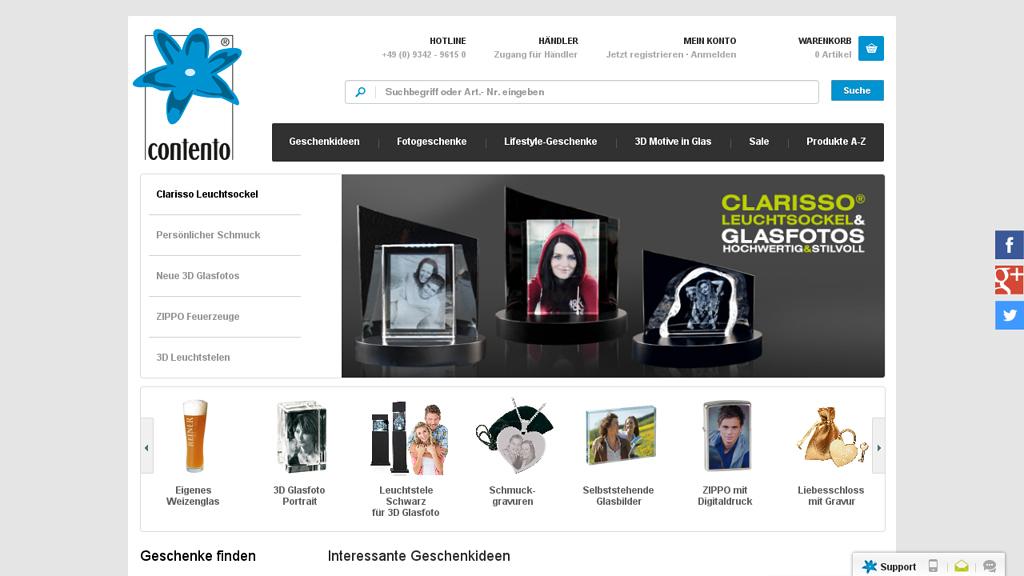 contento Online-Shop