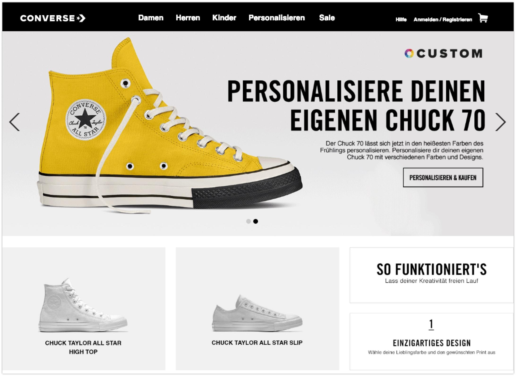 Converse Online-Shop