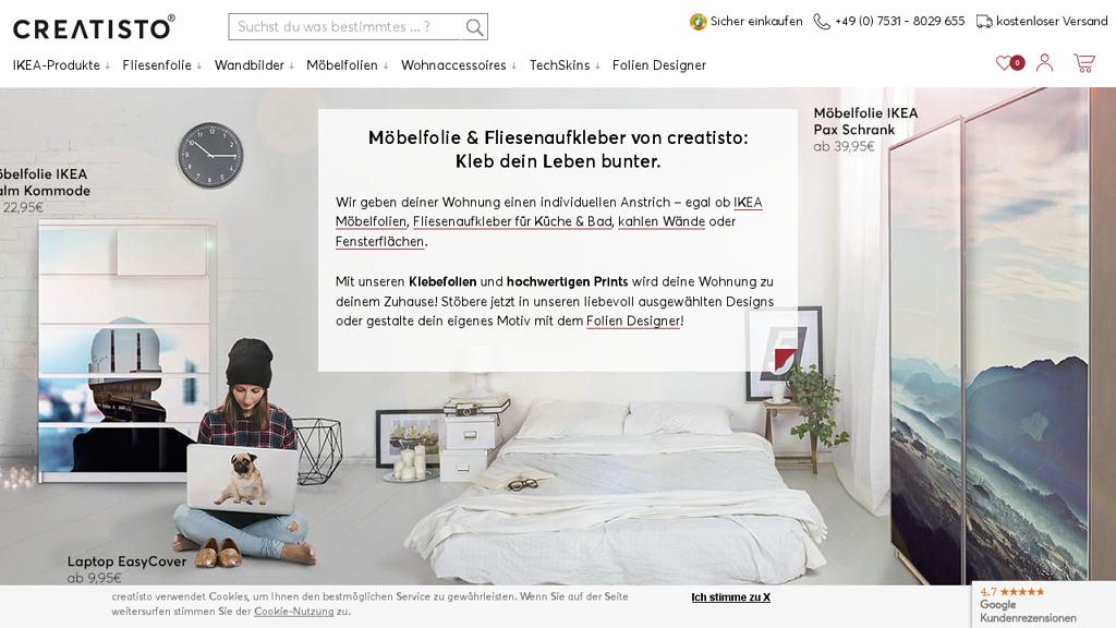 creatisto Online-Shop
