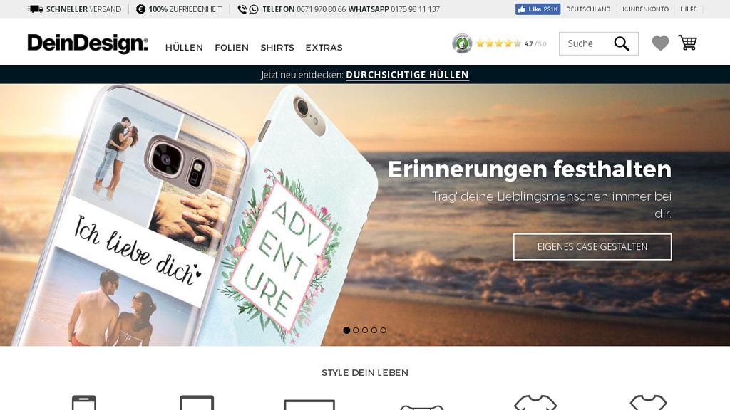 DeinDesign Online-Shop