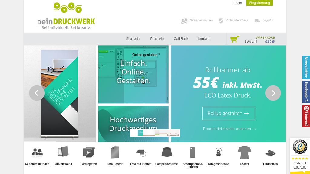 deinDruckwerk Online-Shop