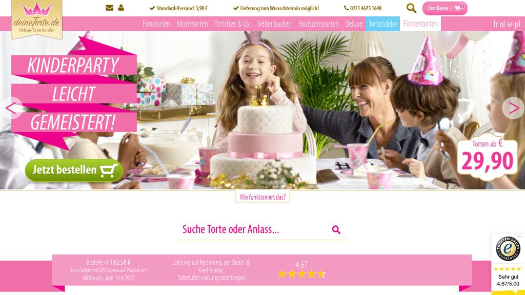 deineTorte Online-Shop