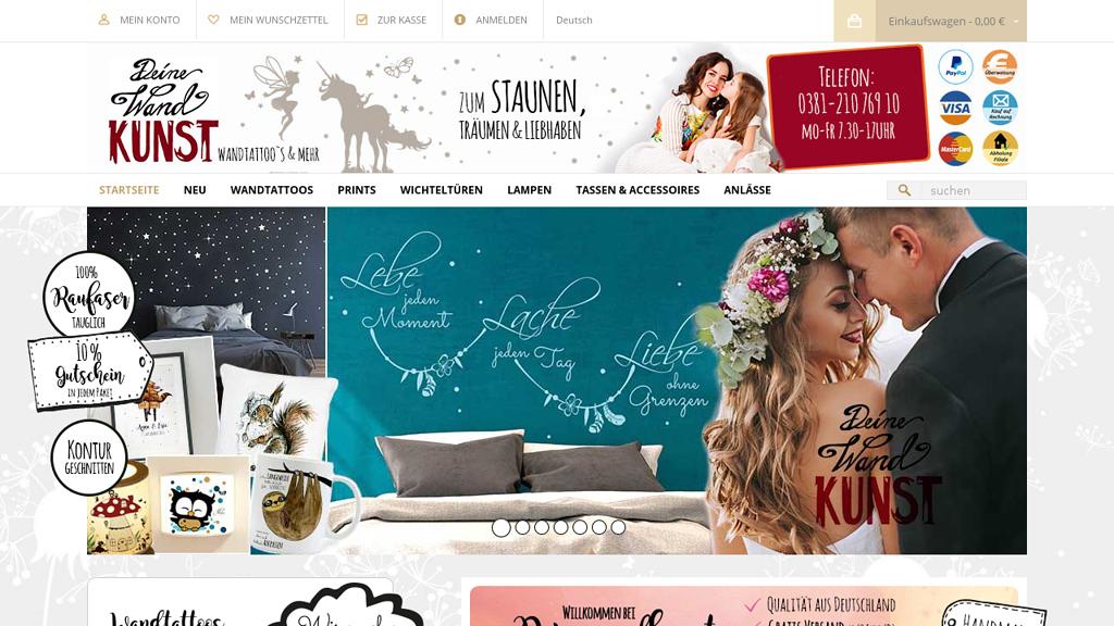 Deinewandkunst.de Online-Shop