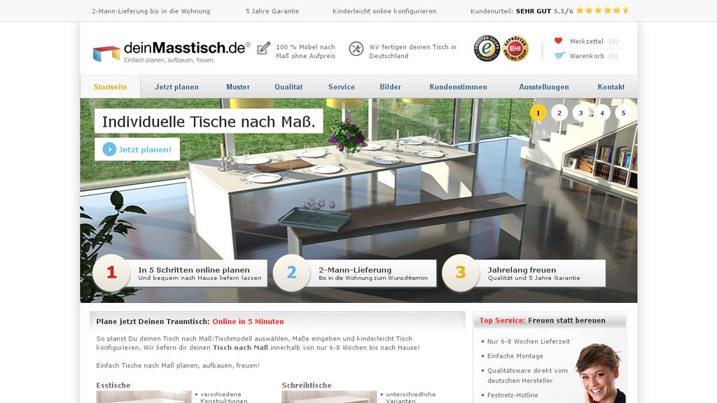 deinMasstisch Online-Shop