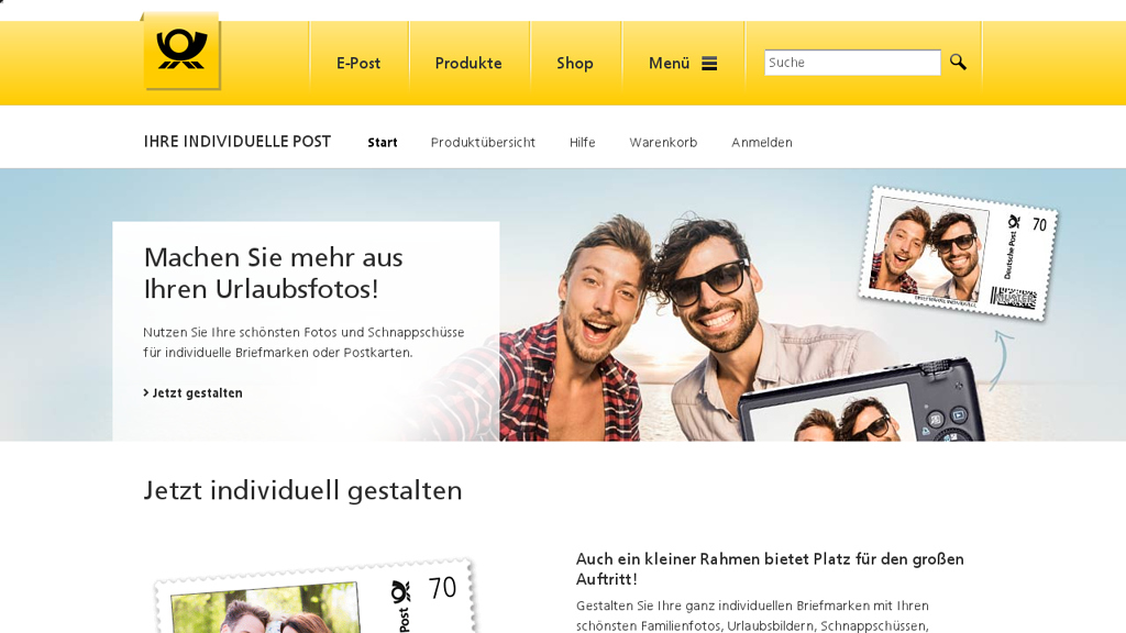Deutsche Post Individuell Online-Shop