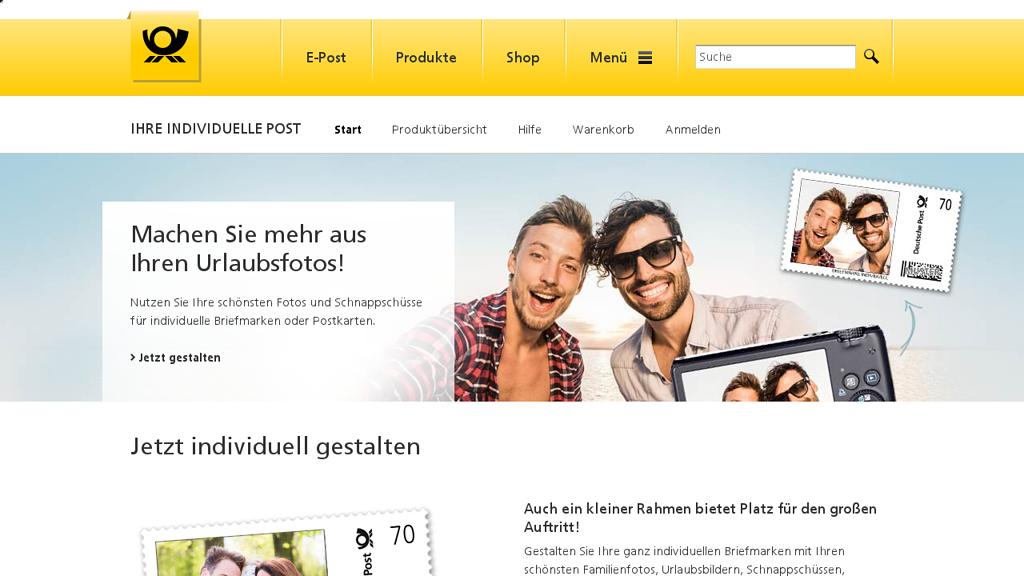 Deutsche Post Individuell Online-Shop
