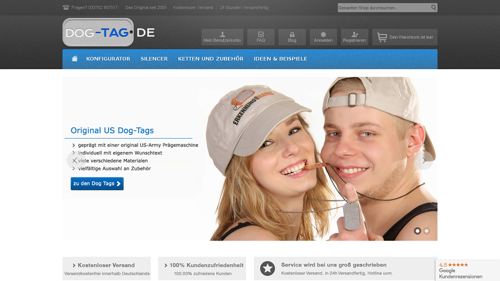 Dog Tag Online-Shop