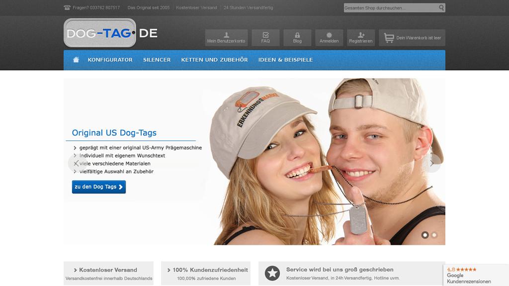 Dog Tag Online-Shop