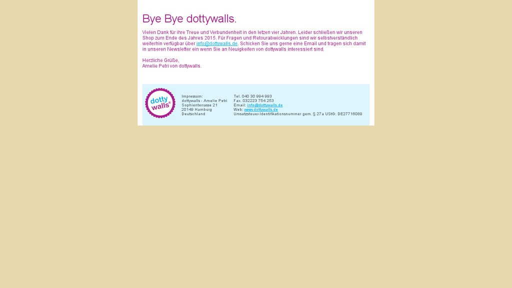 dottywalls Online-Shop