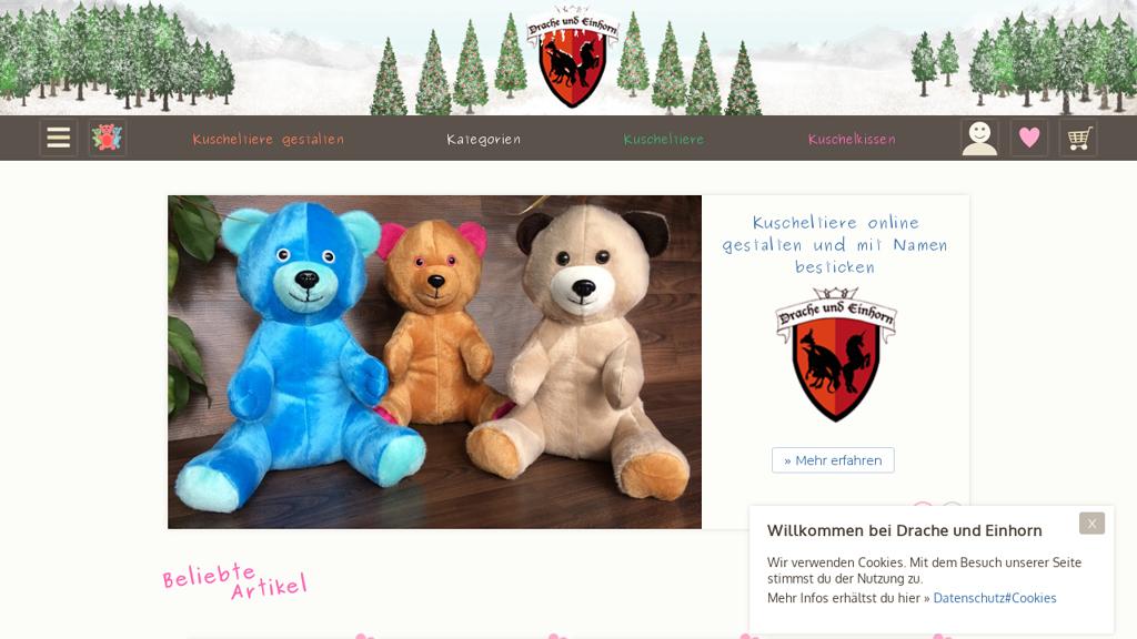 Drache und Einhorn Online-Shop