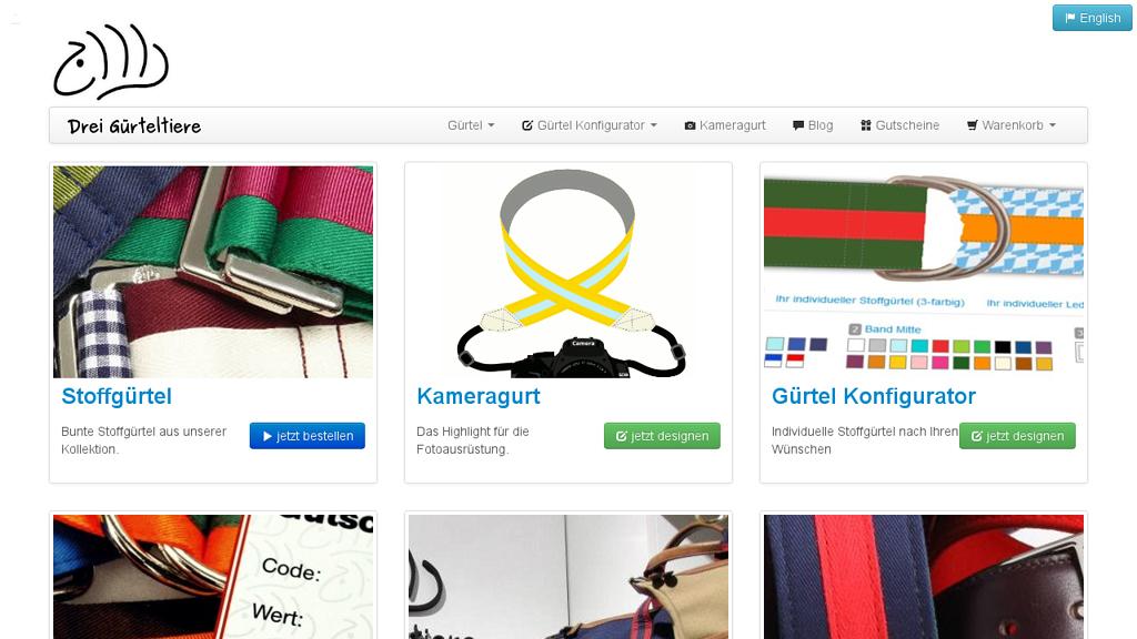 Drei Gürteltiere Online-Shop