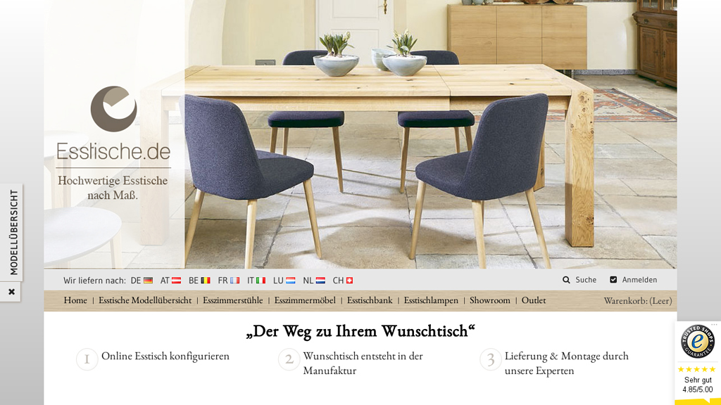 Esstische.de Online-Shop