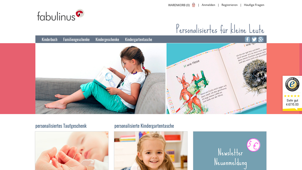 Fabulinus Online-Shop