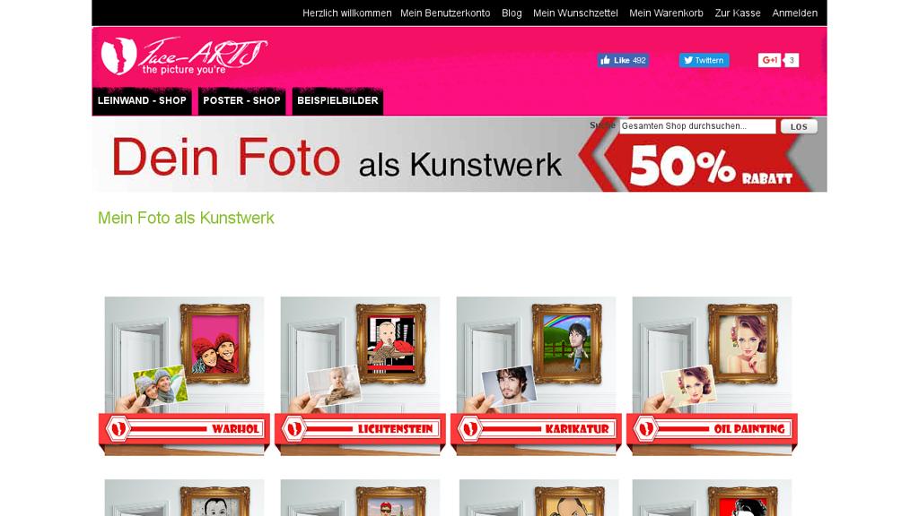 Face Arts Online-Shop