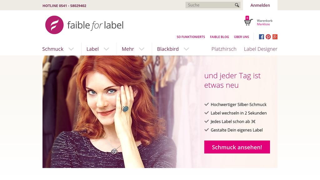 Faible for Label Online-Shop