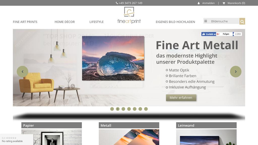 FineArtPrint.de Online-Shop