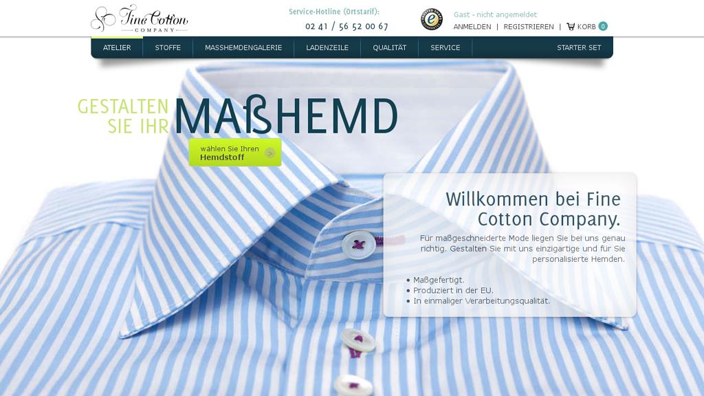Fine Cotton Online-Shop