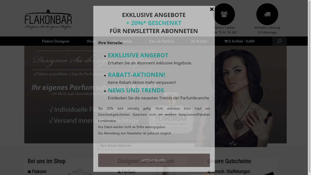 Flakonbar Online-Shop